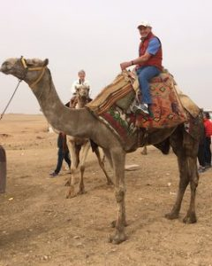 Riding Camels on the Giza Plateau