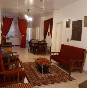 Living Room in Exec Suite 7 at Mara House Luxor